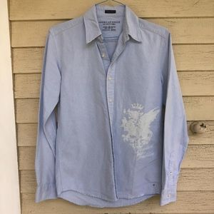 AMERICAN EAGLE OUTFITTERS distressed shirt/NEW
